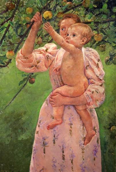Baby Reaching For An Apple